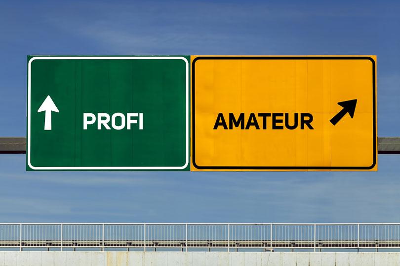 Fragen an Verkäufer: Profi oder Amateur?